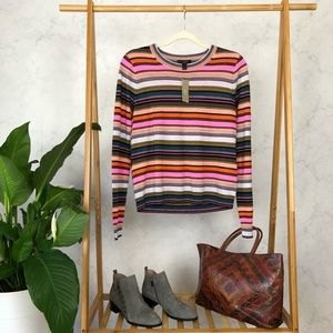 J. Crew Rainbow Stripe Merino Wool Sweater NWT